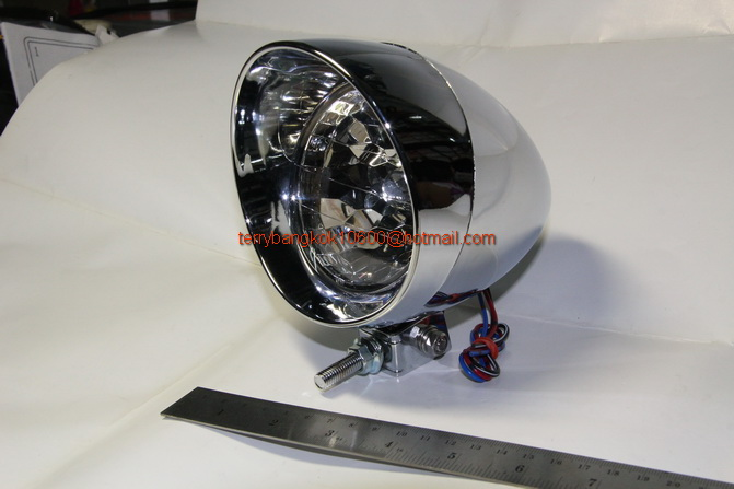 ไฟหน้า ชอปเปอร์ ทรงหัวกระสุน 3.5นิ้ว Chopper Head light set