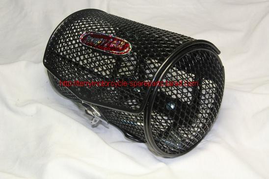 ตะกร้า Scoopy-I Honda ทรงกระบอก แนวนอน สีดำ 5*8 นิ้ว