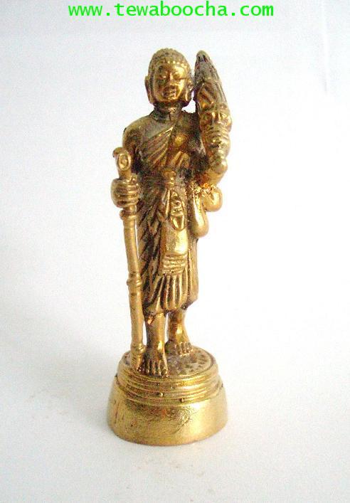 พระสิวลีเทพเจ้าแห่งมหาลาภบูชาแล้วเงินทองไม่ขาดมือ:เนื้อทองเหลือง ขนาด 3 x7.5 ซม.องค์ตั้งหิ้งขนาดเล็ก