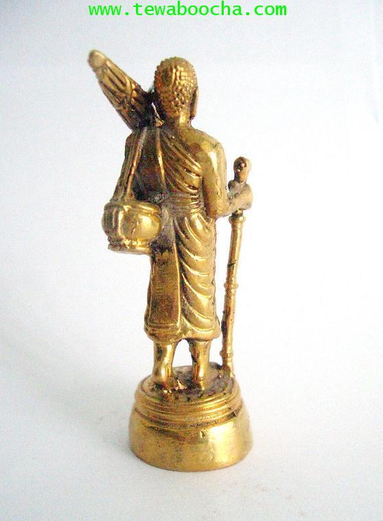 พระสิวลีเทพเจ้าแห่งมหาลาภบูชาแล้วเงินทองไม่ขาดมือ:เนื้อทองเหลือง ขนาด 3 x7.5 ซม.องค์ตั้งหิ้งขนาดเล็ก 2