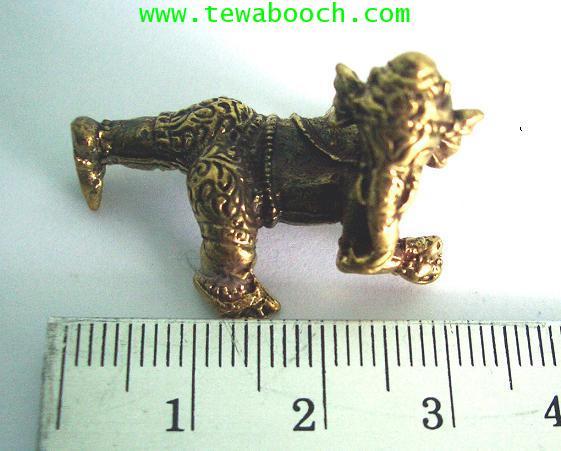 พระพิฆเนศบาละคณปติ(ปางเด็ก)ปางอันเป็นที่รักของทุกคน:เนื้อทองเหลืองขนาด 3x2 ซม. 3