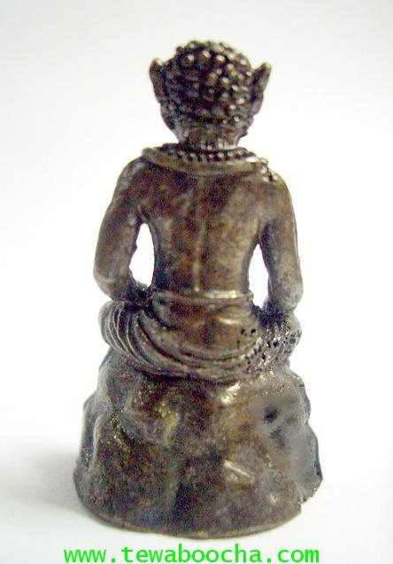 พระพิราพบรมครูแห่งศิลป์ทั้งปวง เนื้อทองเหลืองรมดำ สูง 3 ซม. ฐาน 2 ซม. 1