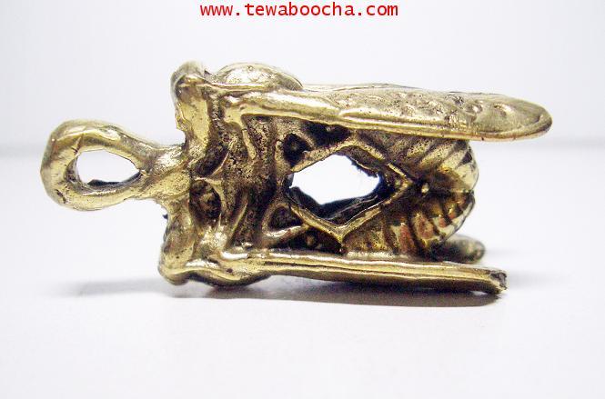 ตัวต่อเงิน-ต่อทอง บูชาเพื่อโชคลาภเงินทอง: เนื้อทองเหลือง กว้าง 1.5 ซม. สูง 3.5 ซม. 2