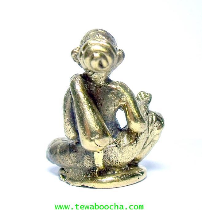 แบบ 9:ชูชกมหาลาภ เทพเจ้าแห่งการขอ ท่านั่ง เนื้อทองเหลือง ฐาน 2.5 ซม.สูง 3.5 ซม. 2