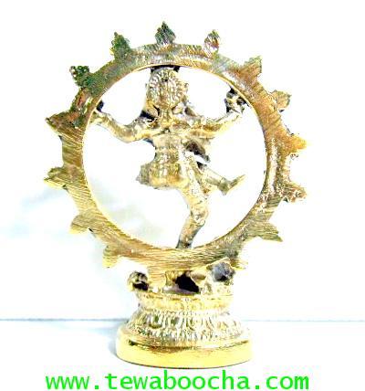 พระศิวเทพปางปางนาฏราช(ตั้งหิ้งเล็กได้) :ครูแห่งผู้มีอาชีพด้านการศิลปะ เนื้อทองเหลืองสูง8ซม.กว้าง6ซม. 1