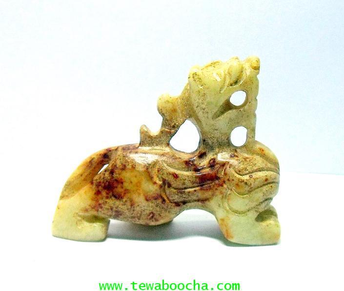 เทพปี่เซี๊ยะประทานความสุข และเงินทองรับเงินตลอดปีมีแต่โชคลาภ:เนื้อหินอ่อนสีกระขาว สูง4ซม.ฐาน 4.5ซม. 3
