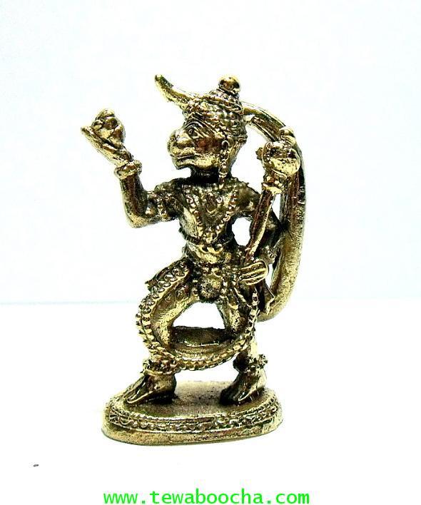หนุมานแบกเขาพระสุเมรุ พุทธคุณดีด้านอาสาเจ้านาย ลูกน้องซื่อสัตย์:เนื้อทองเหลืองสูง 3.5 ซม.ฐาน 1.5ซม.
