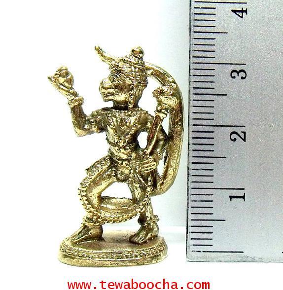 หนุมานแบกเขาพระสุเมรุ พุทธคุณดีด้านอาสาเจ้านาย ลูกน้องซื่อสัตย์:เนื้อทองเหลืองสูง 3.5 ซม.ฐาน 1.5ซม. 4