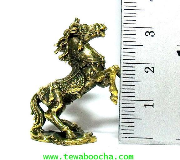 ม้าโผนเนื้อทองเหลือง บูชาเพื่อส่งเสริมความมีชื่อเสียง:เนื้อทองเหลืองสูง 3.5ซม.กว้าง 3 ซม. 3