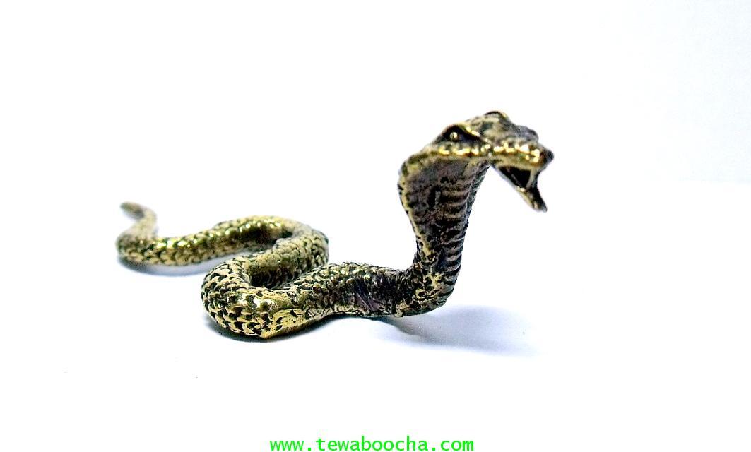 งูบริวารพระศิวะและพระพิฆเนศวร์ (ตัวเล็ก)ถวายสักการะแด่พระศิวะ:เนื้อทองเหลืองขัด สูง 2.5ซม.  ยาว5 ซม.