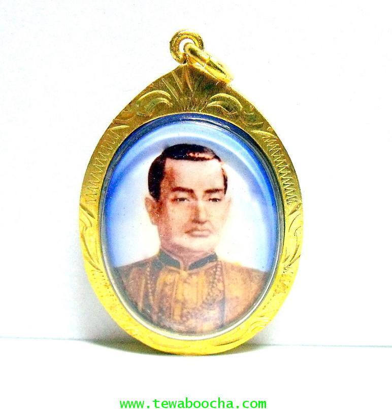 ล๊อกเกตกรอบทองพระพุทธยอดฟ้าจุฬาโลกรัชกาลที่หนึ่ง หลังกรอบทองลายไทย กันน้ำ สูง4.5ซม.กว้าง3.5ซม.