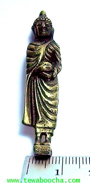พระจำวันพุธ(กลางวัน) พระปางอุ้มบาตร ห่มจีวร:เนื้อทองเหลืองปัดดำยืนแท่นสี่เหลี่ยมสูง5ซม.ฐาน 1ซม. 3