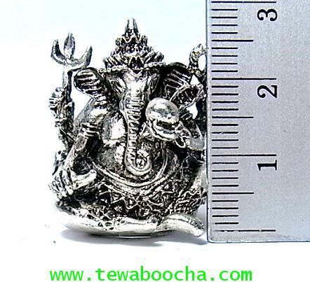 แหวนพระพิฆเนศวร์เต็มองค์ ถือแก้วสารพัดนึก ปางประทานพร:เนื้อทองเหลืองชุบเงินฟรีปัดดำ(ฟรีไซด์ง้างได้) 4