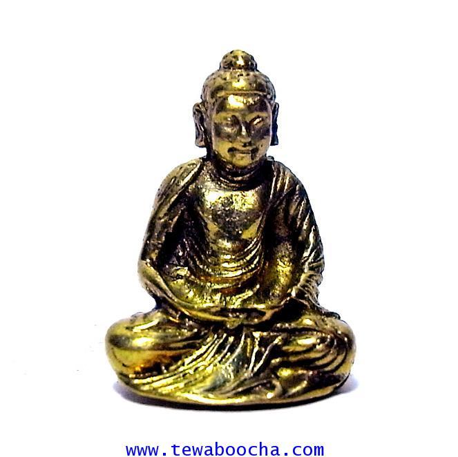 พระพุทธรูปปางบำเพ็ญทุกขรกิริยาพิมพ์ใหม่ บูชาเพื่อให้มีความอดทนความเพียร เนื้อทองเหลืองสูง2.5x1.5ซม.