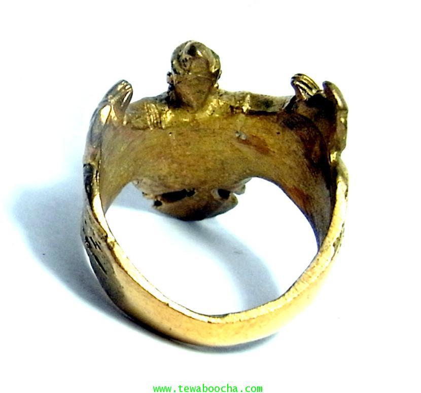แหวนพญาครุฑกางปีกโค้ง ครอบนิ้ว เสริมดวงชนะศึกไล่อัปมงคล เสริมบารมี ปกครองบริวารดี มีคนนับถือยำเกรง 2
