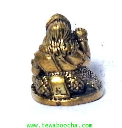 แม่นางกวักแม่รวยอุดมสมบูรณ์มั่งมีเงินทองถือถึงเงินทองกวักมือขวาเนื้อทองเหลืองสูง2ซมฐาน1.5ซม. 2