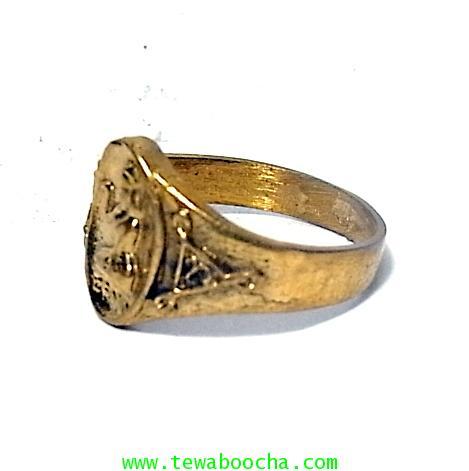 แหวนนางกวัก กวักโชคลาภเงินทอง เหมาะกับพ่อค้าแม่ขาย เนื้อทองเหลืองเส้นผ่านศูนย์กลาง1.8ซม.(นิ้วผู้หญิง 1
