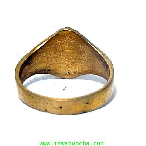 แหวนนางกวัก กวักโชคลาภเงินทอง เหมาะกับพ่อค้าแม่ขาย เนื้อทองเหลืองเส้นผ่านศูนย์กลาง1.8ซม.(นิ้วผู้หญิง 2
