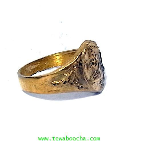 แหวนนางกวัก กวักโชคลาภเงินทอง เหมาะกับพ่อค้าแม่ขาย เนื้อทองเหลืองเส้นผ่านศูนย์กลาง1.8ซม.(นิ้วผู้หญิง 3