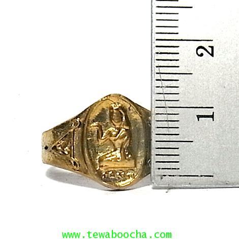 แหวนนางกวัก กวักโชคลาภเงินทอง เหมาะกับพ่อค้าแม่ขาย เนื้อทองเหลืองเส้นผ่านศูนย์กลาง1.8ซม.(นิ้วผู้หญิง 4