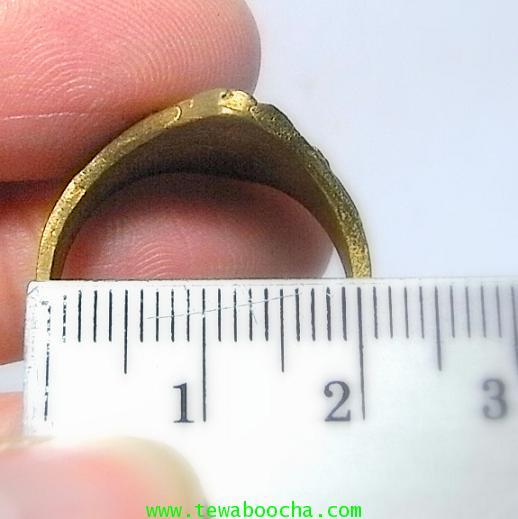 แหวนนางกวัก กวักโชคลาภเงินทอง เหมาะกับพ่อค้าแม่ขาย เนื้อทองเหลืองเส้นผ่านศูนย์กลาง1.8ซม.(นิ้วผู้หญิง 5