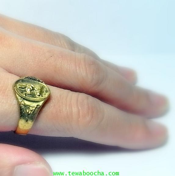 แหวนนางกวัก กวักโชคลาภเงินทอง เหมาะกับพ่อค้าแม่ขาย เนื้อทองเหลืองเส้นผ่านศูนย์กลาง1.8ซม.(นิ้วผู้หญิง 6