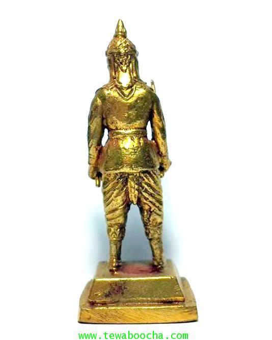 พระยาพิชัยดาบหักทหารเอกพระเจ้าตากผู้ภักดี เนื้อทองเหลืองสูง 7.5ซม.ฐาน 3ซม. 3