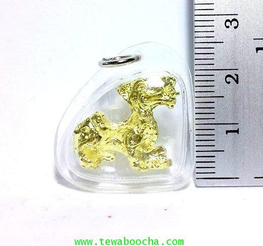 จี้ปี่เซี๊ยะทองเหยียบก้อนทองให้ความสุขเงินทองโชคลาภนื้อทองเหลืองชุบทองกรอบพลาสติกสูง2.5ซม.กว้าง2.5ซม 4