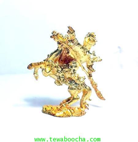 เทพเจ้ากวนอูขี่ม้าเซกเทาว์เทพเจ้าแห่งความซื่อสัตย์ปัดอุปสรรคปัดหนี้สิน:เนื้อโลหะชุบทองขนาด3x3ซม. 2