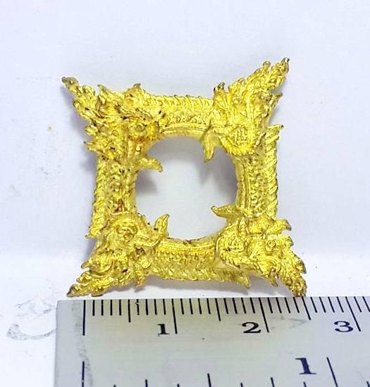 บ่วงนาคบาศก์งูกินงูขดนาค4องค์มตตามหานิยมให้โชคมีกินไม่หมดจัตตุรัศ2.5x2.5ซม.ทองเหลืองชุบทอง 6