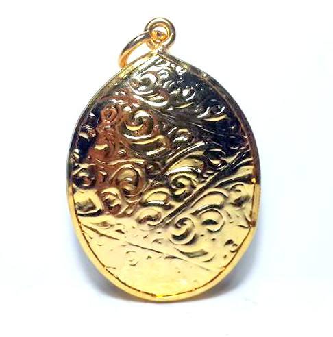 ล๊อกเกตกรอบทองพระบรมฉายาลักษณ์รัชกาลที่ทรงเครื่องกษัตริย์กรอบทองไมครอนสูง3.5ซม.กว้าง2.5ซม. 1