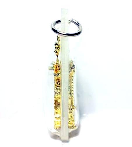 พระเวสสุวรรณ2พระพักตร์(หน้ายักษ์และหน้าเทพ)ขนาดจิ๋วคุ้มภัยให้โชคชุบทองกรอบพลาสติกำสูง4ซม.ฐาน2.5ซม. 1