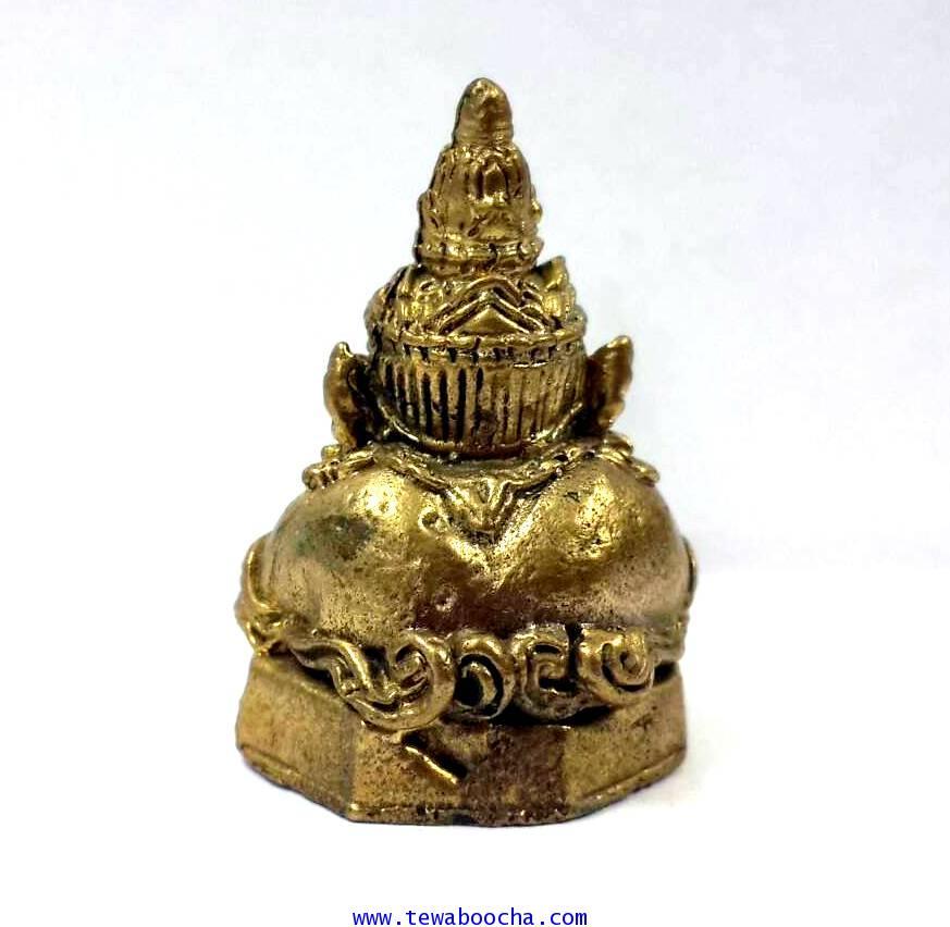 พระราหูเทพคุ้มภัยให้โชคลาภพลิกดวงชะตา เนื้อทองเหลืองสูง 2.5 ซม.ฐาน1.8 ซม. 2