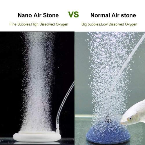 Nano Air Stone HT100 หัวทรายจาน สีขาว ฟองอากาศขนาดเล็ก ขนาด 10 ซม. 2
