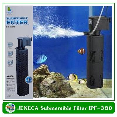 ปั้มน้ำพร้อมกระบอกกรองในตู้ Jeneca IPF-380 สำหรับตู้ปลาขนาด 36-48 นิ้ว