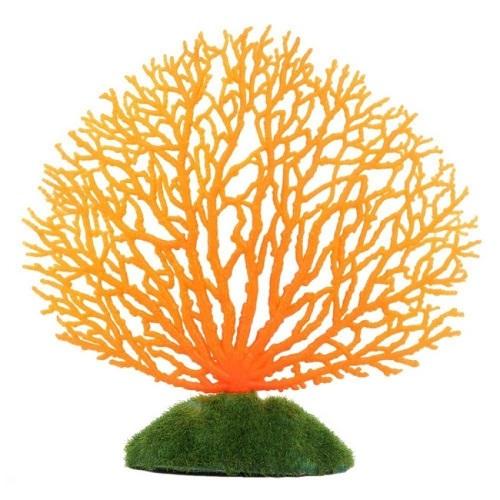 ปะการังเทียม สีส้ม ใช้ตกแต่งตู้ปลา