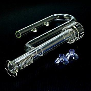 Aquarium Glass Lily Pipe Inflow With Surface Skimmer 13mm.ท่อแก้วนำน้ำเข้าพร้อมสกิมเมอร์ตีผิวน้ำ สำห