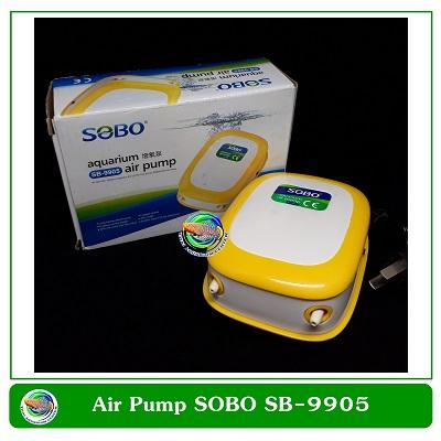 SOBO ปั้มลม SB-9905 ปั๊มออกซิเจน 2 ทาง เสียงเงียบ แรงดี 4.2W