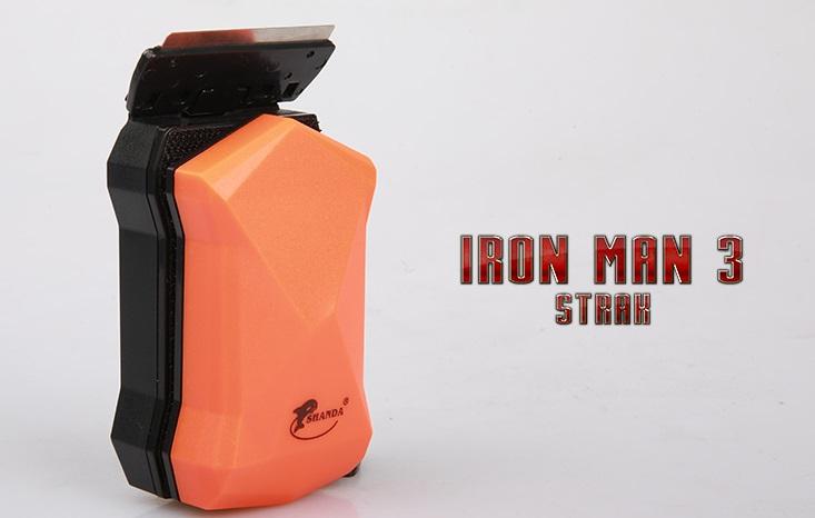 Shanda แปรงแม่เหล็กขัดตู้ปลาสวยงาม ขนาดใหญ่มาก รุ่น Iron Man IM-001XL สีส้ม เหมาะกับกระจกหนา 12-19 ม