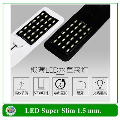 LED Super Slim โคมไฟLED สำหรับตู้ปลาขนาดเล็ก สีขาว