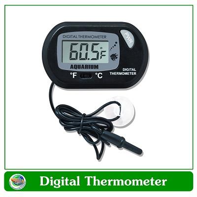 digital thermometer วัดอุณหภูมิน้ำในตู้ปลาแบบจุ่มสายในน้ำ