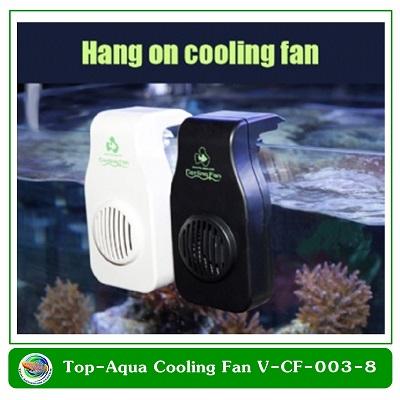 Top-Aqua Cooling Fan V-CF-003-8 พัดลมช่วยทำความเย็น สีดำ
