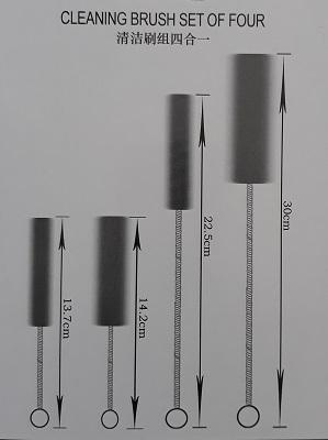 Brush set ชุดแปรงทำความสะอาดท่อขนาดเล็ก (1 ชุด มี 4 ด้าม) 2