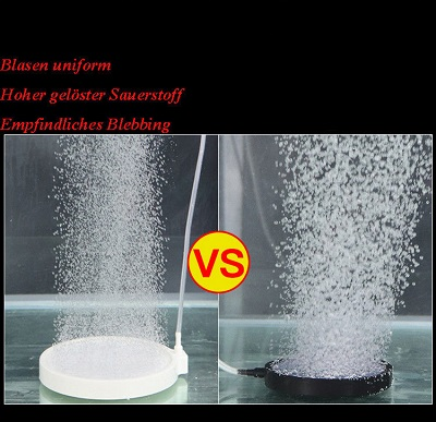 Nano Air Stone HT50 หัวทรายจาน สีขาว ฟองอากาศขนาดเล็ก ขนาด 5 ซม. 3
