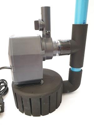 ชุดพร้อมใช้ สกิมเมอร์ สะดือบ่อเทียม ขนาด 5 นิ้ว ท่อ 6 หุน และปั๊มน้ำ Sonic AP-2500 อุปกรณ์ครบชุด 3