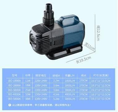 ปั๊มน้ำประหยัดไฟ SOBO รุ่น BO 5800A 1