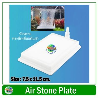 หัวทรายสีขาว ขนาด 7.5 x 11.5 ซม. ทรงสี่เหลี่ยมผืนผ้า Air Stone Plate