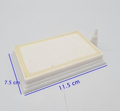 หัวทรายสีขาว ขนาด 7.5 x 11.5 ซม. ทรงสี่เหลี่ยมผืนผ้า Air Stone Plate 1
