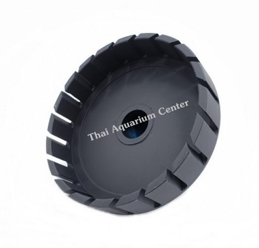 สกิมเมอร์ + สะดือบ่อเทียม ขนาดหน้าจาน 5 นิ้ว ท่อ PVC 1 นิ้ว แบบตัดเฉียง ชุบสีดำ 2