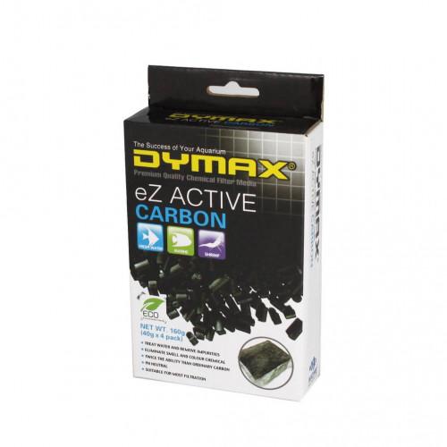 Dymax Ez Active Carbon คาร์บอน วัสดุกรองน้ำตู้ปลา ขนาดถุง 40 กรัม (1 กล่อง มี 4 ชิ้น)